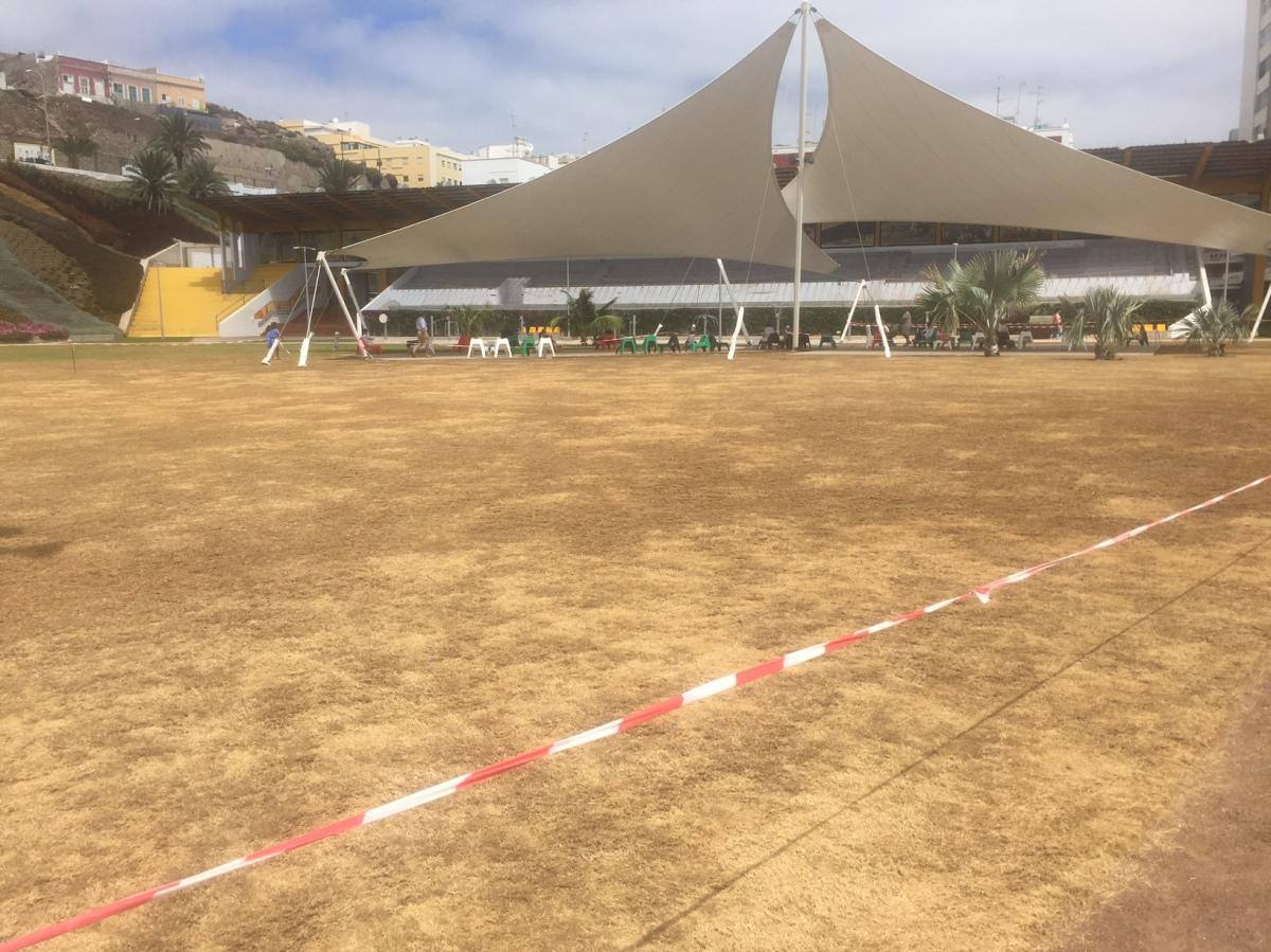 El PP solicita al Tripartito que adecente y recupere las labores de mantenimiento del Parque Deportivo EstadioInsular