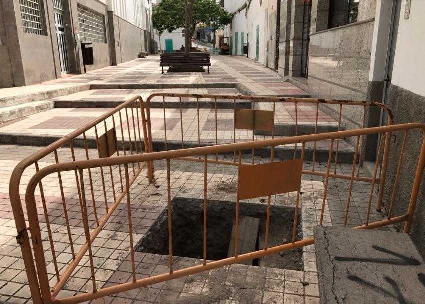 El PP exige información sobre las obras que se están realizando en la Plaza deTenoya